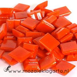 Basis  glastegeltjes 1 x 1 cm per 50 gram Donker Oranje 095