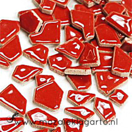 Keramiek Puzzelstukjes per 100 gram Rood 401