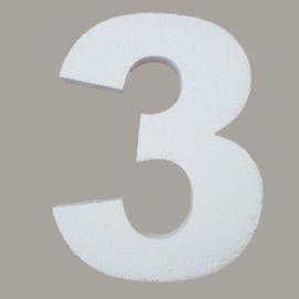 Ondergrond mozaïek Styropor Cijfer 3