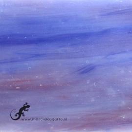 Glasplaat 19x20 cm Blauw/Paars Semi Translucent GAC033st