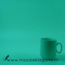 Glasplaat 20x20 cm Transparant Zeegroen W96-18t