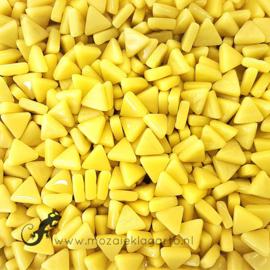 Glasmozaiek Driehoekjes 10 mm per 50 gram Geel 030