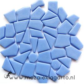 Mozaiek puzzelstukjes Glas 100 gram Lichtblauw 062