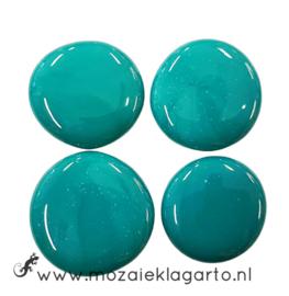 Glas Nugget 30-38 mm per 4 Opaal Zeegroen 4500