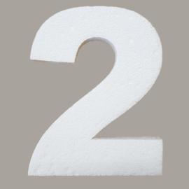 Ondergrond mozaïek Styropor Cijfer 2
