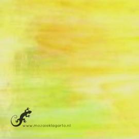Glasplaat 19 x 20 cm Lichtgeel Iriserend  CAG016i