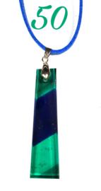 Handgemaakte glashanger Groen/Blauw