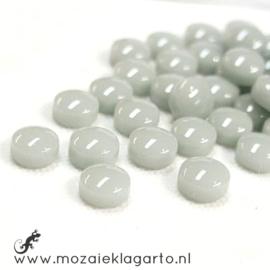 Glasdruppel Rond 12 mm per 50 gram Pastel Grijs 042