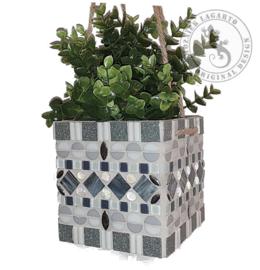 Mozaiekpakket 36 Plantenhanger Kwibus Wit/Grijs