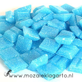 Basis glastegeltjes 1 x 1 cm per 50 gram Aqua 014
