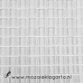 Glastegeltje Murrini Wit per 81 tegeltjes 061