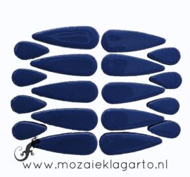 Keramiek druppel 2 maten 50 gram Donkerblauw 019