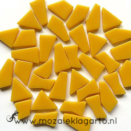 Mozaiek puzzelstukjes Glas 100 gram Warm Geel 032