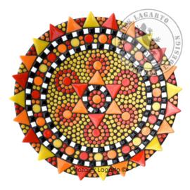 Schaal Bouqette Rood-Geel-Oranje