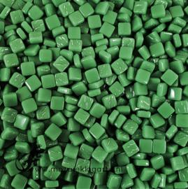 Mozaïek tegeltjes glas 8 x 8 mm Opaal per 50 gram Dennengroen 037