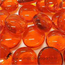 Glas Nugget 17-22 mm Transparant 50 gram Oranje 4493