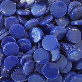 Glastegel Rond 18 mm per 50 gram Donkerblauw 071