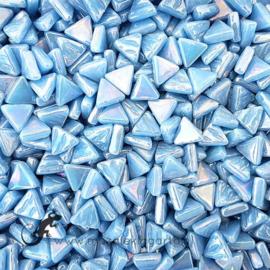 Glasmozaiek Driehoekjes 10 mm Parelmoer per 50 gram Aqua 065P