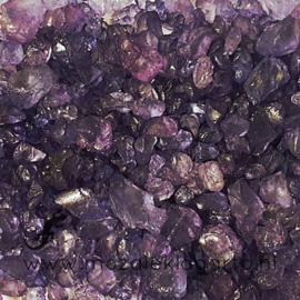 Glas Brokjes/Split Paars ca  250 gram 48011