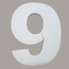Ondergrond mozaïek Styropor Cijfer 9