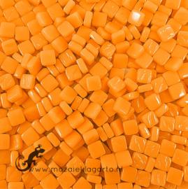 Mozaïek tegeltjes glas 8 x 8 mm Opaal per 50 gram Oranje 104