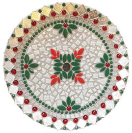 Mozaiekpakket 67 Schaal Kerst Zilver