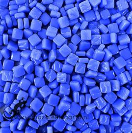 Mozaïek tegeltjes glas 8 x 8 mm Opaal per 50 gram Briljant Blauw 069