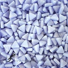 Glasmozaiek Driehoekjes 10 mm per 50 gram Paarsblauw 062