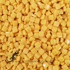 Mozaïek tegeltjes glas 8 x 8 mm Opaal per 50 gram Warm Geel 032