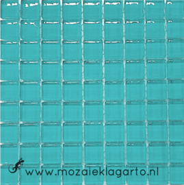 Glastegeltje Murrini Licht Zeegroen per 81 tegeltjes 072