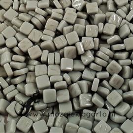 Mozaiektegeltjes glas 8x8 mm Opaal per 50 gram Grijs 045