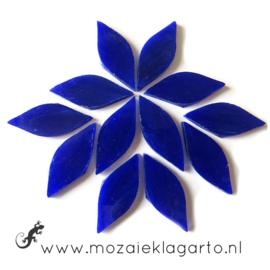 Bloemblaadjes Tiffanyglas 15x38x3 mm per 12 Lapis Lazulli 031-1