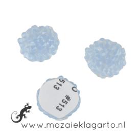 Glas facet geslepen rond Swarovski 16 mm per 2 Lichtblauw 20137