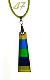 Handgemaakte glashanger Groen/Blauw/Geel