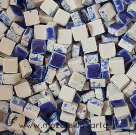 Mini Keramiek tegeltjes 5x5 mm per 15 gram Donkerblauw 019