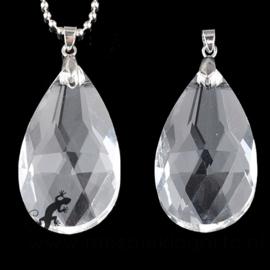 Glashanger Kristal Transparant Druppelvorm 63 x 34 mm