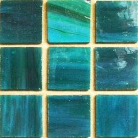 Tiffany glas tegels Donker Zeegroen 135