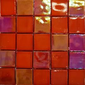 Glastegels 15 mm Rood Opaal per 25 tegels 152-15