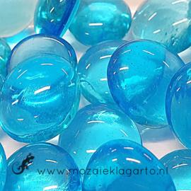 Glas Nugget 17-22 mm Transparant 50 gram Aqua 4431