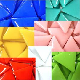 Glas driehoek tegels 29 mm
