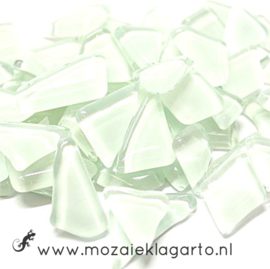 Mozaiek puzzelstukjes Soft Glas 100 gram Wit 061