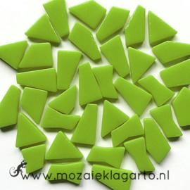 Mozaiek puzzelstukjes Glas 100 gram Lichtgroen 011