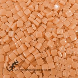 Mozaïek tegeltjes glas 8 x 8 mm Opaal per 50 gram Abrikoos 103