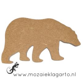 Ondergrond voor mozaiek Mini MDF IJsbeer 010