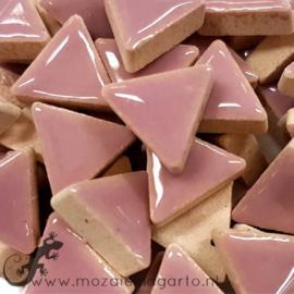 Geglazuurde keramiek driehoekjes 15 mm per 50 gram Lila 045