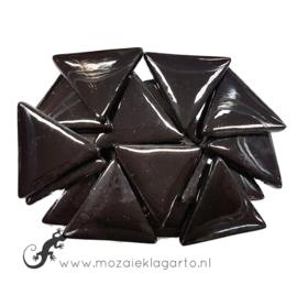 Glasmozaiek Driehoek 29 mm per 100 gram Zwart 049