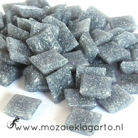 Basis  glastegeltjes 1 x 1 cm per 50 gram Middengrijs 009