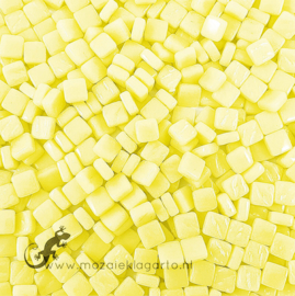 Mozaïek tegeltjes glas 8 x 8 mm Opaal per 50 gram Lichtgeel 027