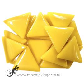Glasmozaiek Driehoek 29 mm per 100 gram Geel 030