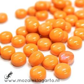 Glasdruppel Rond 12 mm per 50 gram Oranje 104